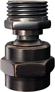 MissMin shower head Swivel ball adapter,hand shower rotate povit shower arm extension connector,ORB/oil rubbed bronze