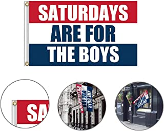 shajiahao Saturdays are for The Boys Flag, College Football Games Decor Banner, Dorm Room Decor Banner for Tailgates Dorms College Football Fraternities Parties (3x5 Feet)