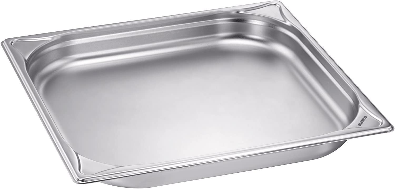 whiteo Stainless Steel Gastronorm Pan?–?GN 2 3 Unperforated Taut Set 3?Pack of 1)?–?1550066