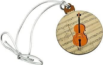 GRAPHICS & MORE Cello Sheet Music Notes Treble Clef Mini Small Tiny Wood Christmas Tree Holiday Ornament