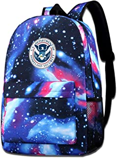 Department Of Homeland Security Star Backpack For Men And Women Students Bag
