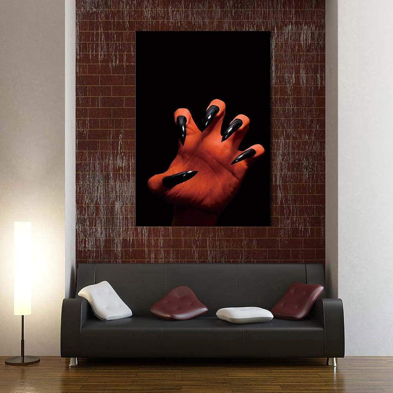不実同情的回答ハロウィーンのポスタープリントホラーキャンバス壁アート写真怖い頭蓋骨燃焼キャンドルキャンバス絵画リビングルームモダンな家の装飾40×60cmフレームレス JKG-308-WKAQM
