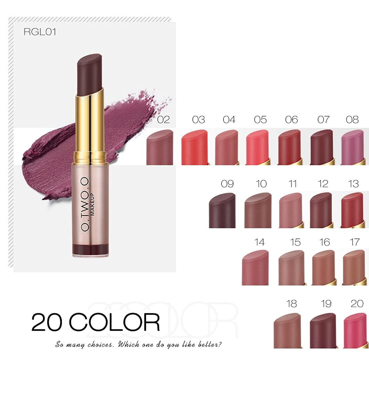 危険にさらされているパン腸(RGL07) Brand Wholesale Beauty Makeup Lipstick Popular Colors Best Seller Long Lasting Lip Kit Matte Lip Cosmetics