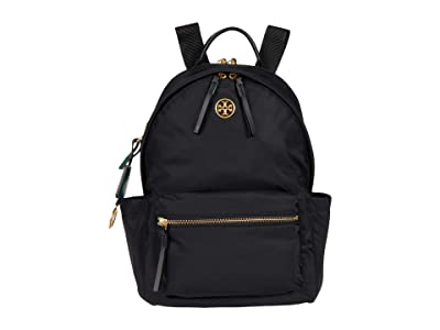 Tory Burch Piper Zip Backpack (Black) Backpack Bags