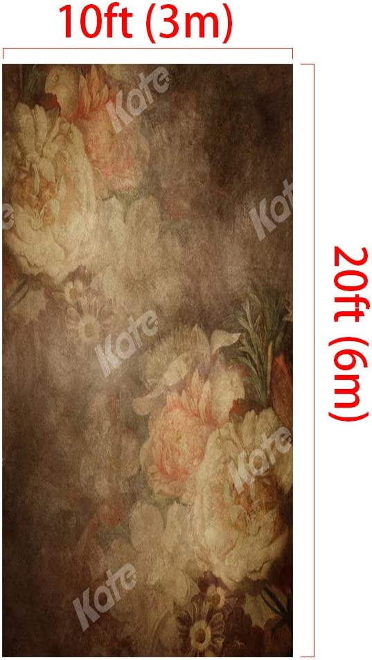 Kate 6.5x10ft Photography Backdrop Old Master Portrait Background Floral Classic Backdrop
