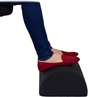 Konesky Foot Rest Cushion Under Desk Foot Taburete Cilindro Memory Foam Soporte para pies Portable Therapeutic Feet Pillow for Home Work Travel