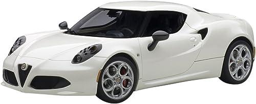 Ahorre 60% de descuento y envío rápido a todo el mundo. AUTOart Aa70188 - - - los Coches Modelo Alfa Romeo 4C 2013 Madre blancoa de Pearl del 1 18  genuina alta calidad
