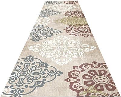 alfombras de Pasillo decoración para hogar Alfombra Larga Vintage Oriental Floral Alfombras escaleras del Dormitorio alfombras Antideslizantes Suaves Alfombras de habitación Infantiles: Amazon.es: Hogar