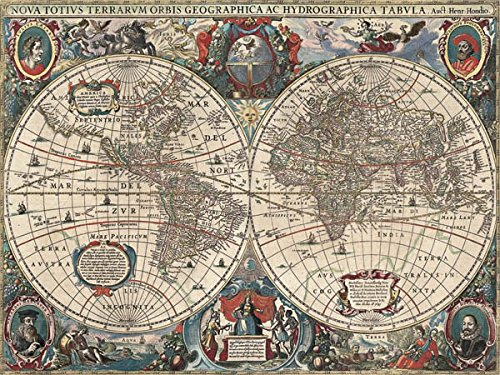 DìMò ART Leinwandbild (Canvas Prints) Hendrik Hondius Nova totius Terrarum Orbis geographica ac hydrographica Tabula