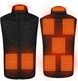 ZSQAW 8 Places Heated Vest Men Women Usb Heated Jacket Heating Vest Thermal Clothing Hunting Vest Winter Heating Jacket Bl...