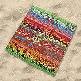 DHestia - Toalla Playa Grande Doble de 175x150 cm Algodón Egipcio 100%. Agra