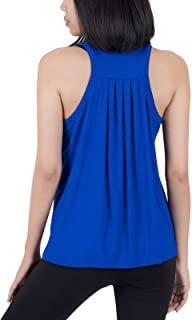 LOFBAZ Back Pleated Workout Tank Tops for Women Yoga Gym Shirts Athletic Clothes