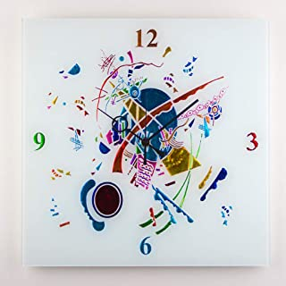 "Sandro Moro Vetro Design Reloj de pared"" Kandinskji Time""."
