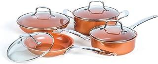 8 Piece Non-Stick Copper Cookware Set