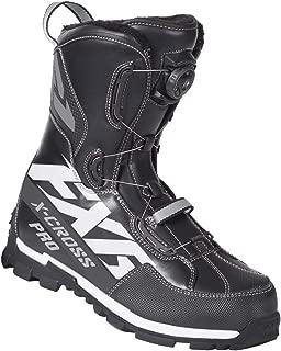FXR Racing XCROSS Pro Boa Snow Boot '19 Black/White/Charcoal Mens 12/EU46