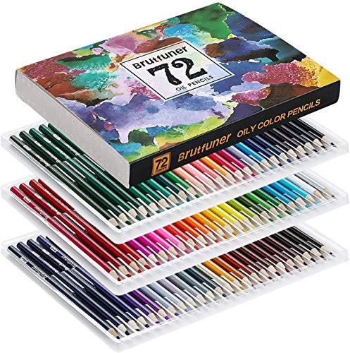 油性色鉛筆 72色 アート鉛筆セット 油性色ペン - Akura - 塗り絵 大人 子供 美術 描き用 スケッチ用 プレゼント 鉛筆削り付き