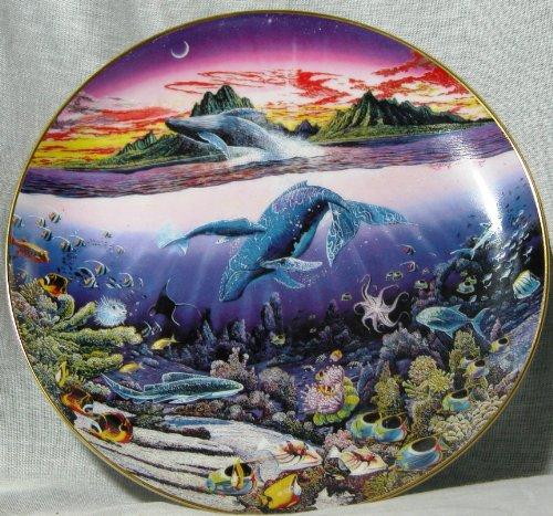 Danbury Mint Underwater Paradise ~ New Moon Over Windward Oahu