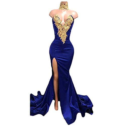 Royal Blue and Gold Prom Dresses: Amazon.com