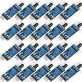 20 Piezas Módulo de Sensor de Evitación de Obstáculos Infrarrojo IR Módulo de Sensor Fotoeléctrico Reflectante de 3 Hilos Compatible con Arduino Smart Car Robot Raspberry Pi 3