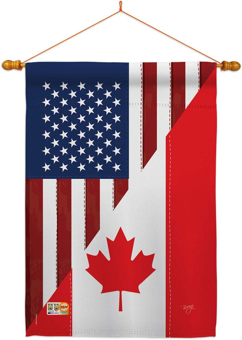 US Friendship 爆売り 安い Canada House Flag Regional Dowel American Set USA