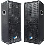 Grindhouse Speakers - GH210L-Pair - Pair of Passive Dual 10 Inch 2-Way PA/DJ Loudspeaker Cabinets -...