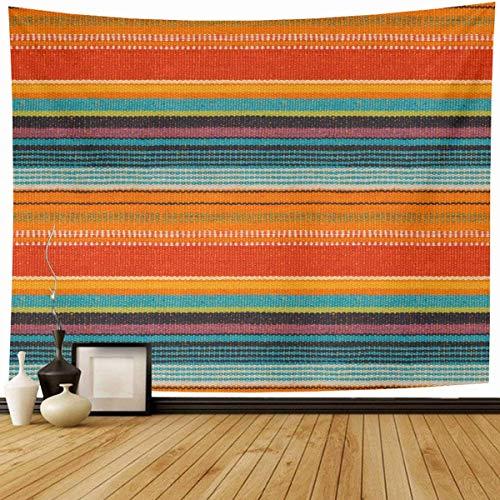 Tapiz Colgante de pared Amarillo brillante Detalle de patrón Color mexicano Azul Púrpura Hispano Guatemala Cultura india Decoración tribal del hogar Tapices Dormitorio decorativo Sala de estar Dormito