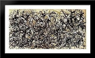 Autumn Rhythm (Number 30) 40x22 Large Black Wood Framed Print Art by Jackson Pollock