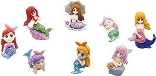 Exasinine 8 Pcs Cute Miniature Mermaid Figurines, Mini Mermaid Figurines Cake Topper Set for Crafts, Succulent Planter, Mo...