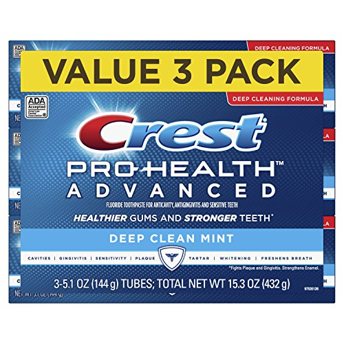 Price comparison product image Crest Pro Health Advanced Deep Clean Toothpaste,  Mint,  5.1 Ounce,  Pack of 3