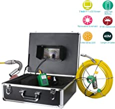 STHfficial Drain Sewer Pipeline Industrial Endoscope,40M 7 Inch LCD DVR 1200TVL Camera with 12 LED Lights 4GB SD Card