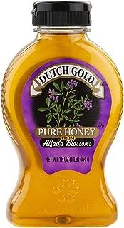 Dutch Gold Blossom Honey Variety Pack – Alfalfa, Avocado, Blueberry, Buckwheat, Clover, Orange, Raspberry, and Wildflower - 1 Lb. Bottles (Pack of 8 Bottles)