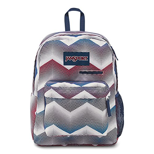 JanSport Digibreak Laptop Backpack - Matrix Chevron White