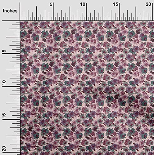 oneOone Georgette Viscose Rose Pink Fabric Florals Dress Material Fabric Print Fabric by The Yard 42 Inch Wide-WPQ