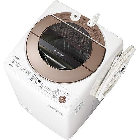 シャープ 洗濯機 ES-GV10E-T 穴なし槽 インバーター搭載 ブラウン系 10kg