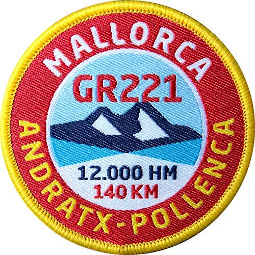 Club of Heroes 2 x Mallorca GR221 Aufnäher 60 mm gewebt/Aufbügler Sticker Patch Fernwanderweg Tramuntana Wandern Reiseführer Wanderkarte Tourenkarte Buch Karte