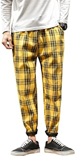 QZH.DUAO Men's Plaid Pants