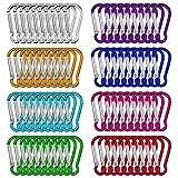 Dadabig 80pcs Llavero de Mosquetón Pequeño Mini Llavero Mosquetón Escalada 4.6cm Aluminio Mosquetón Clips de Mosquetón para Mochila Handpack, Cuerdas, Camping, Pesca (8 Colores)