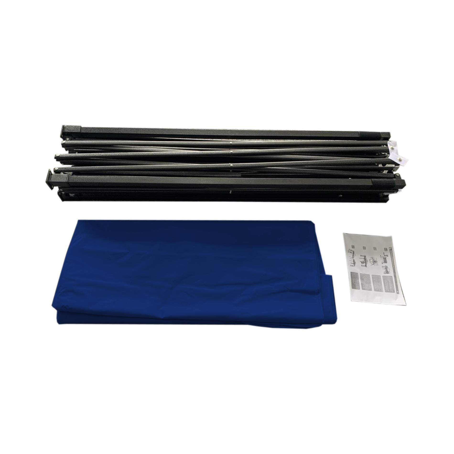 cod. RE6327 Rebecca Mobili Gazebo Richiudibile con 4 Pesi Blu Metallo Poliestere Sacca Giardino Mercatini Terrazzo 3,1 x 3 x 3 mt