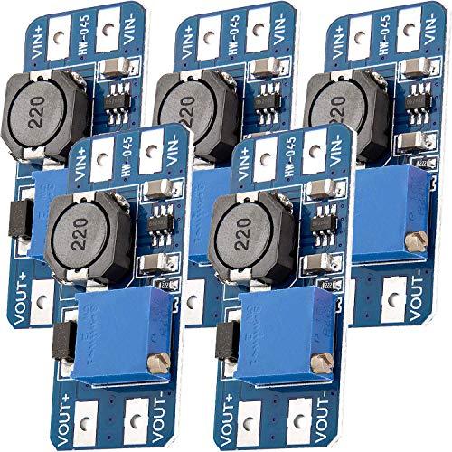AZDelivery 5 x MT3608 DC-DC Netzteil Adapter Step up Modul kompatibel mit Arduino inklusive eBook!