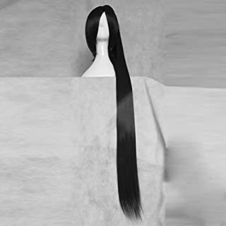 SOUL EATER Tsubaki Nakatsukasa Black 120CM Long Cosplay Party Hair Full Wig + 1 ponytails