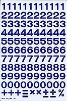 (シャシャン)XIAXIN 防水 PVC製 ナンバー ステッカー セット 耐候 耐水 数字 キャラクター 表札 スーツケース ネームプレート ロッカー 屋内外 兼用 TS-123 (ブルー)