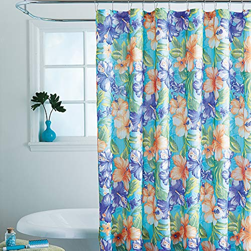 BrylaneHome Caribbean Joe 14-Pc. Shower Curtain Sets, Hibiscus
