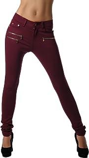 Crazy Age Damenhose Jegging Legging Zipper stylisch H086