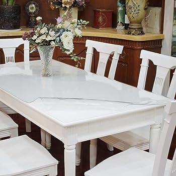 Ertex Tischdecke Tischfolie Schutzfolie Tischschutz Folie Transparent 1,7 mm 1A Qualität geeignet für den Kontakt mit Lebensmitteln (90 x 160 cm)