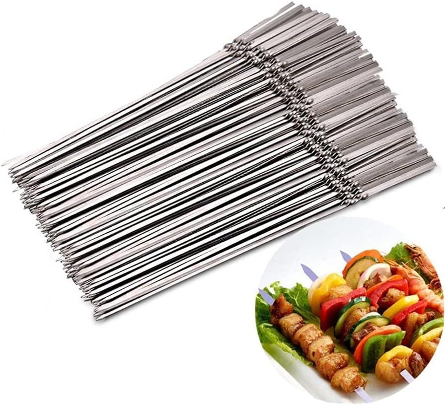 HBNNBV Barbecue Skewers 50 100pc Stainless Steel Financial sales Max 88% OFF sale Reusable Skewer