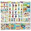 Sproutbrite 幼児向け教育ポスター - 教室の装飾 - 幼稚園のホームスクール用品素材 - 就学前学習用装飾 - ABCポスター - 遠距離学習用11チャート