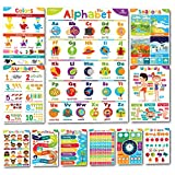 Sproutbrite Educational Posters for Toddlers - Classroom Decorations - Kindergarten Homeschool Supplies & Materials - Preschool Learning Decor - ABC Poster - 11 - 20'x14' Charts for Distance Learning