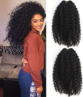 3B 3C Kinky Curly Human Hair Clip In Extensions For Black Women Brazilian Virgin Hair Kinky Curly Clip Ins Clip On Extension Natural Color 7pcs/lot 120gram/set (8inch)