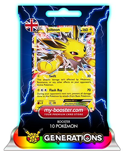 Pokemon Jolteon EX (Voltali) 28/83 160HP Xy Generations - Booster DE 10 Cartes anglaises My-Booster