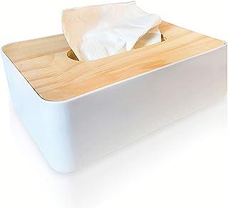 NJBLZQ Tissue Box Holder,Tissue Box Cover Rectangular,Durable Bamboo Tissue Box Cover,Wooden Tissue Box Holder for Office,...